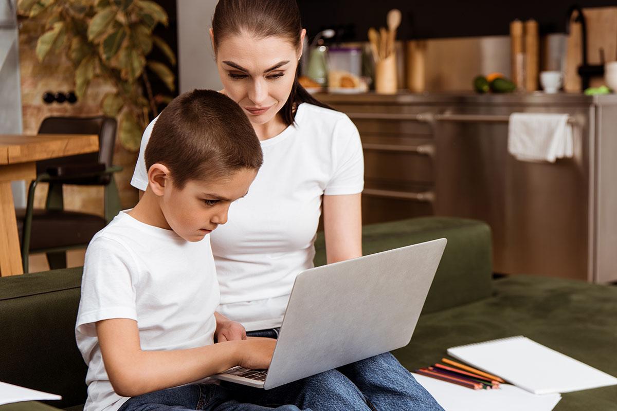 Parent on Webinar